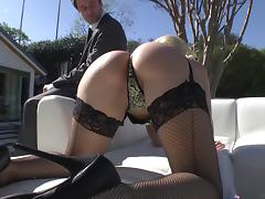 James Deen makes these two hot pornstars in his anal whores