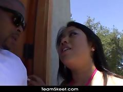 TeamSkeet Chubby big tits Asian Kya Tropic interracial sex
