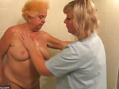 Kinky grannies take turns riding a cock in a blazing ffm threesome