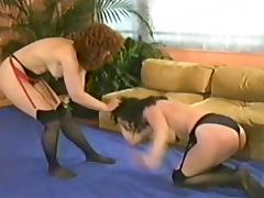 Retro milfs Catfight