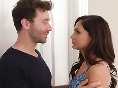 He blindfolds Ariana Marie then slowly makes love to her