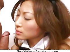 原千尋 Chihiro Hara Bunny Costume Threesome As