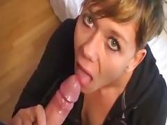 Amateur slut suck off & swallow compilation