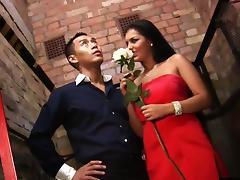 Jasmine Black and her boyfriend are on their way to a wedding