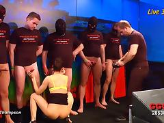 German sluts finally experience the gangbang they always wanted