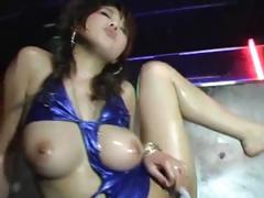 Busty Japanese Girl Dancing