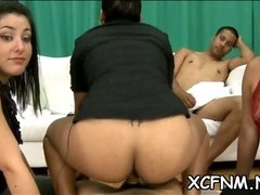 See exciting CFNM scene