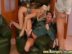 Fetish Watersports sluts drenched in golden piss