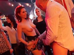 Crazy girls go to a club and end up fucking in public