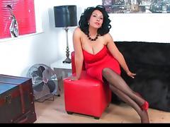 Donna Ambrose AKA Danica Collins - Red dress stockings