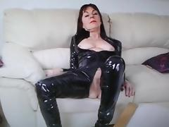 Danish Britt show Pvc and Pussy nr1