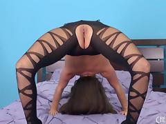 Gorgeous body stocking on a smoking hot big tits pornstar