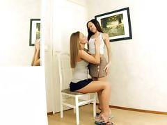 Irene and Karlin lovely lesbian girls fingering