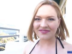 Cock swallowing Krissy Lynn fucked in her wet pussy
