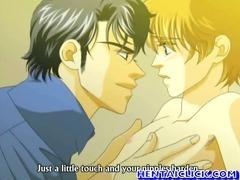 Hentai gay secretly kissed n fucked