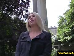 Pulled russian beauty fucked in strangers car