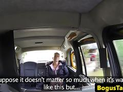 Czech taxi amateur titfucking on backseat