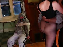 Stunning brunette looker receives a proper anal pounding