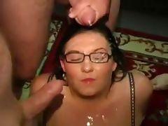 Chubby british slut amateur bukkake