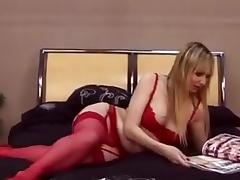 British milf gets fucked in sexy stockings