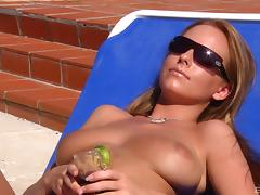 Cindy Dollar and Carla Cox enjoy a massive dick on a beach