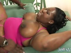Round and Raunchy Black Girl Takes a Good Hard Fucking