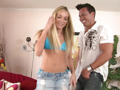 Amy Brooke seduces a handsome man for a nasty shag