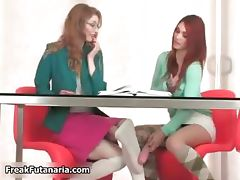 Sexy redhead and blonde babes get horny part6
