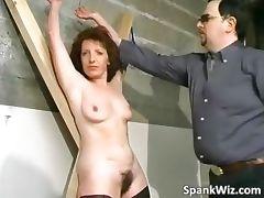 Tied brunette gets big ass spanked part6