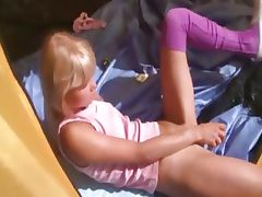 18yo princess Loly jerking off in a tent