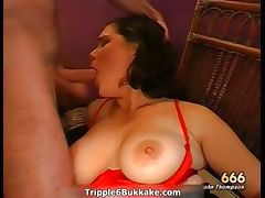 Busty brunette bitch with big boobs part1