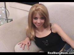 Skinny teen girl fucking huge dildo