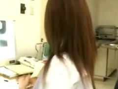 Japanese nurse blowjob and facial cumshot