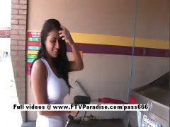 Alexa Loren Tender Busty Girl Washing Car