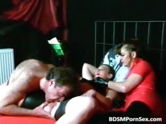 Old guy is involved in rough BDSM action