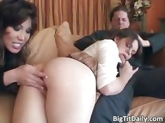 Babysitter with big tits is caught part1