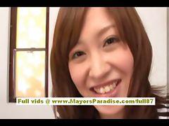 Rika Sugasaki asian model gets licked and does blowjob