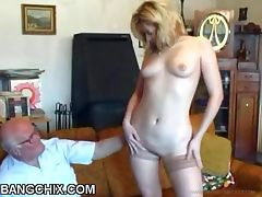 Alluring Blonde Teen Fucked By Old Guy