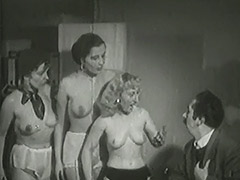 3 Mature Ladies get Naked in Office 1940