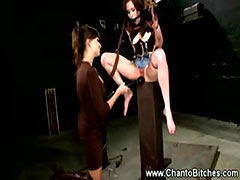 Tied submissive fears for her well being