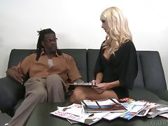 Erica Fontes the adorable White chick getting fucked by Black guy