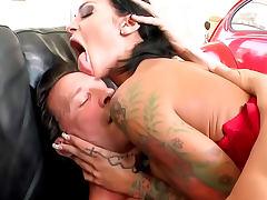 Pierced Angelina Valentine is a fuck slut