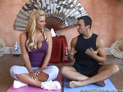Sinful Blonde Phoenix Marie Is Left To Handle Her Yo Instructor's Big Cock