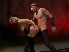 Deadly Facial Cumshot Sends Blonde Fighter Krissy Lynn To The Ground