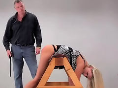 Bound bent over and smacked on the ass