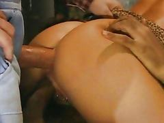 Nasty Blond fucked by two Worker