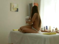 European babe oil massaged sensually