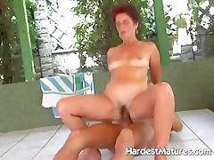 Mature lady Lea fucking hot stud