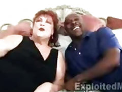 Grandma takes a Pussy Pounding by Black Cock