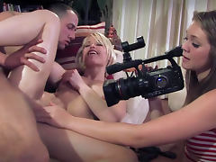 Cute Ash Hollywood is sucking dick on the camera